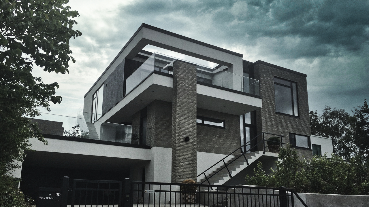 Billede af Dansk arkitekttegnet 3 plans villa af arkitektfirmaet m2plus.