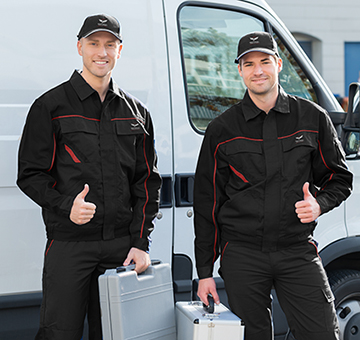 2 electricians with outfits