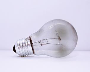 burnt light bulb