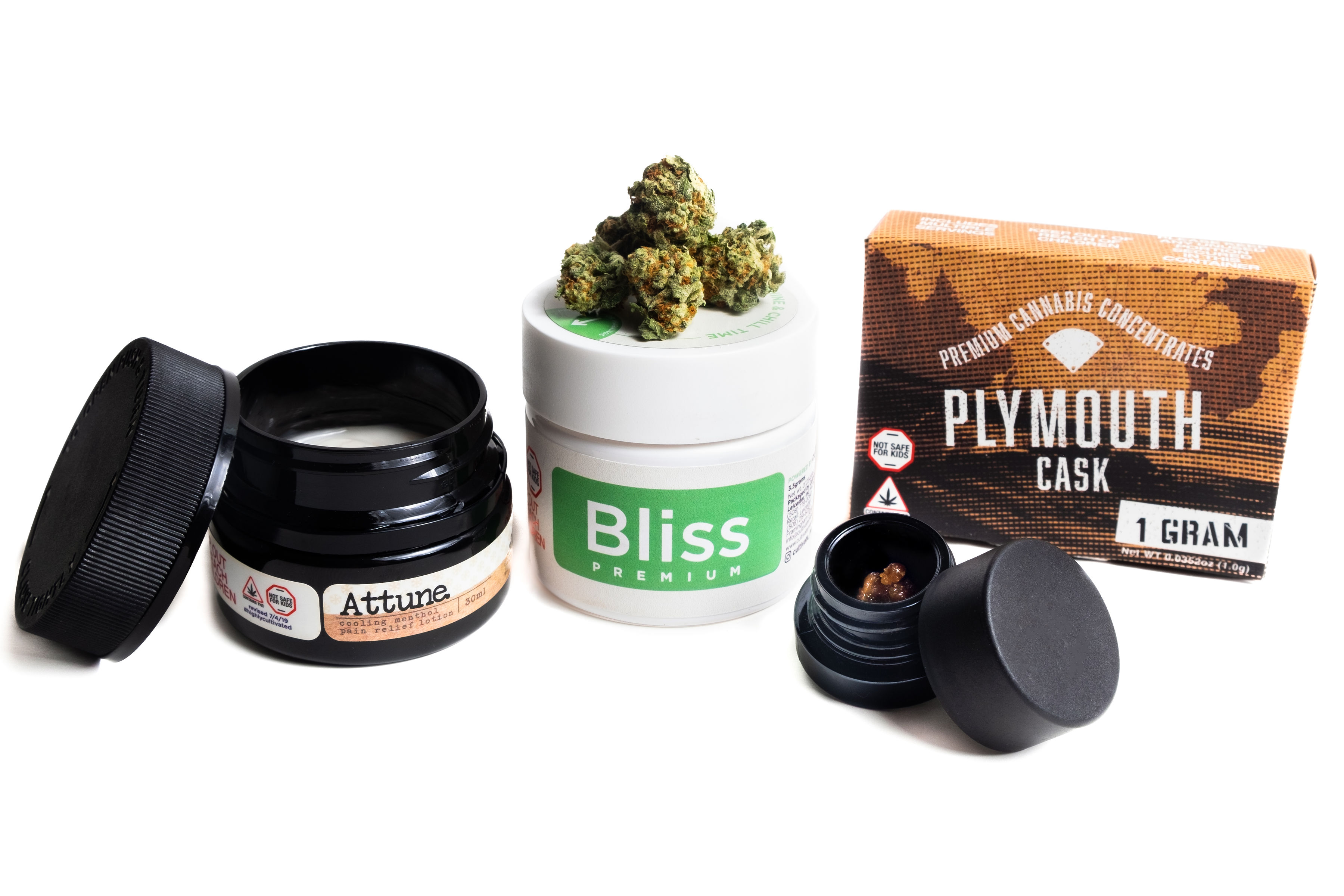 A broad selection of quality cannabis products