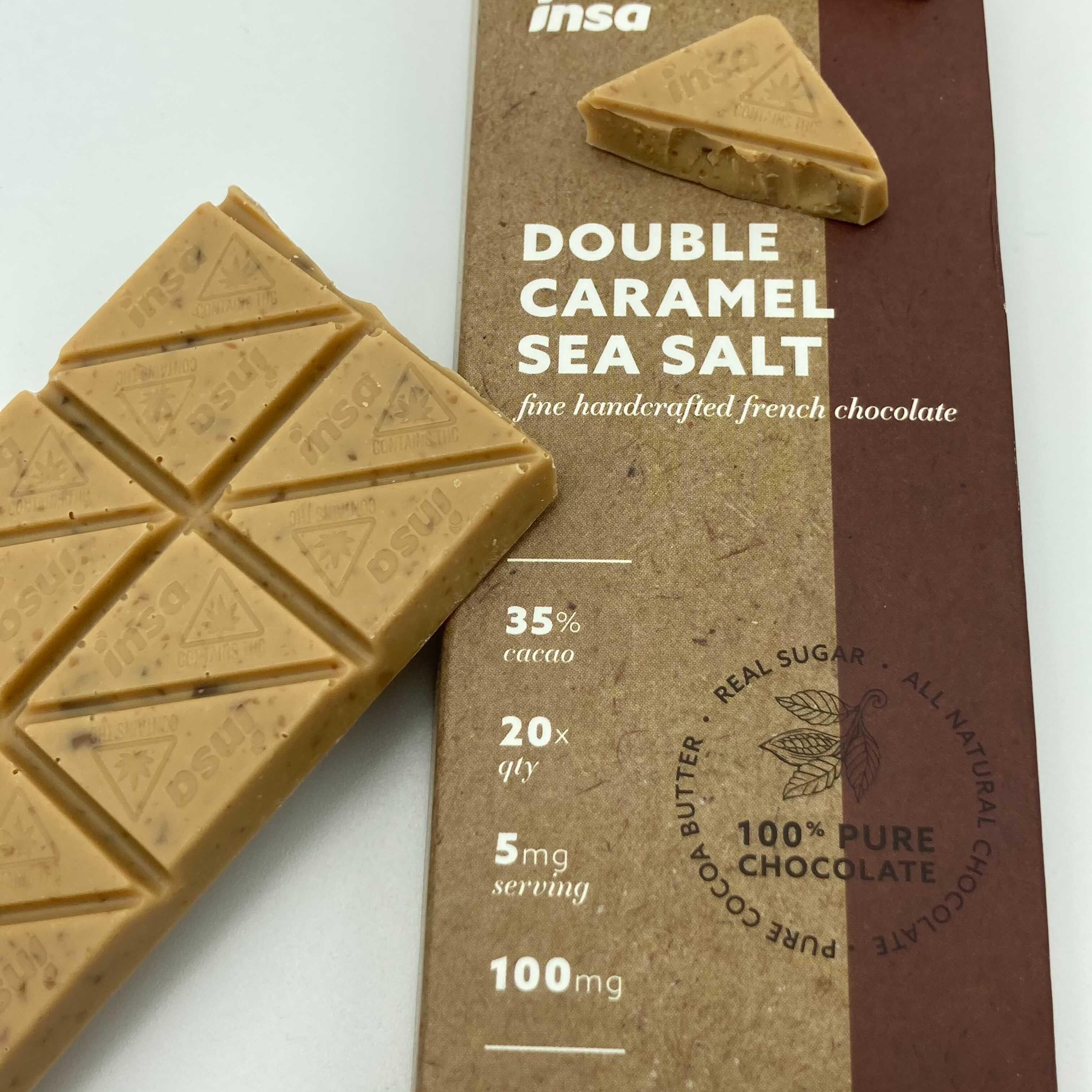 MA Strain Reviews - INSA Double Sea Salt Caramel Chocolate Bar