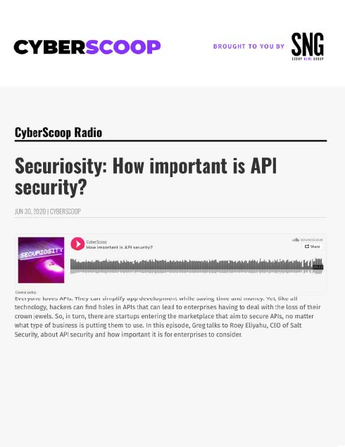 How important is API security?
