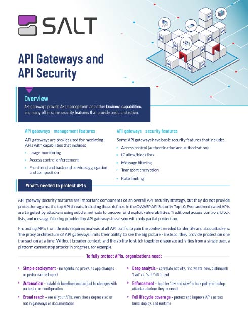 API Gateways and API Security Solution Brief