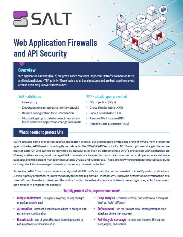 WAFs and API Security