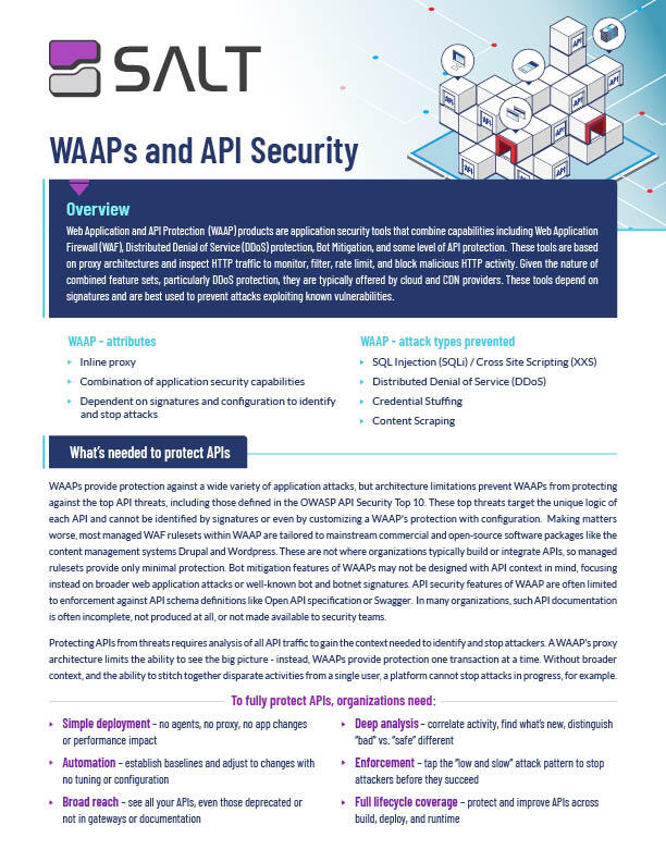 WAAPs and API Security