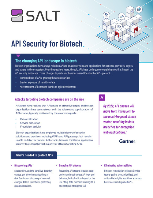 API Security for Biotech Overview