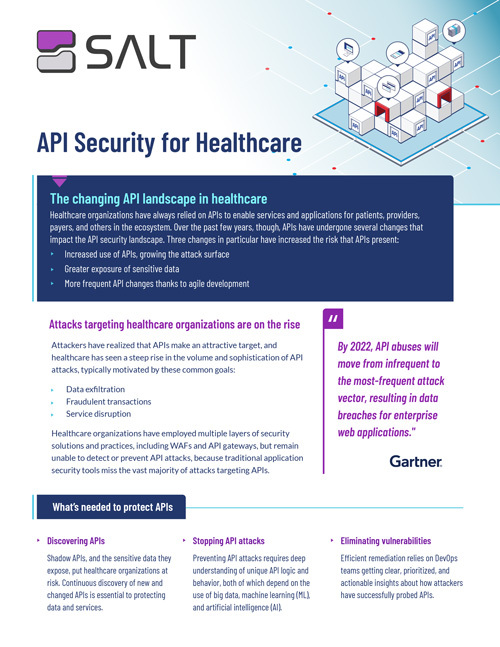 API Security for Healthcare Overview