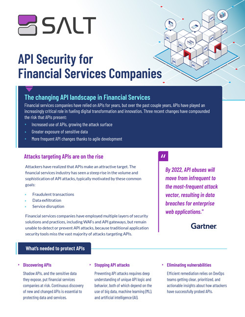 API Security for Finserv Overview