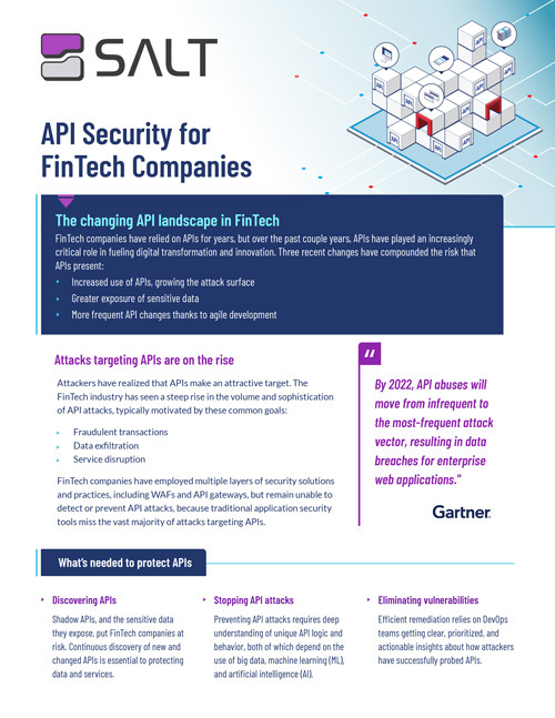 API Security for Fintech Overview