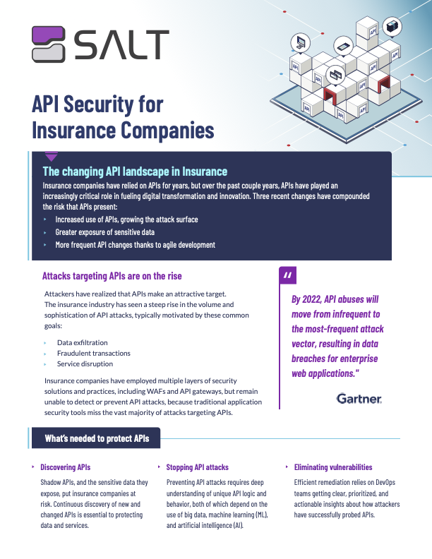 API Security for Insurance Overview