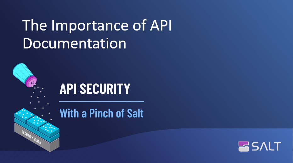The Importance of API Documentation - API Security With a Pinch of Salt