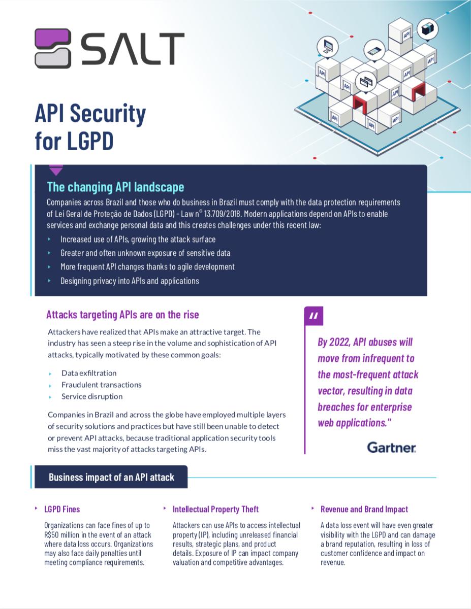 API Security for LGPD