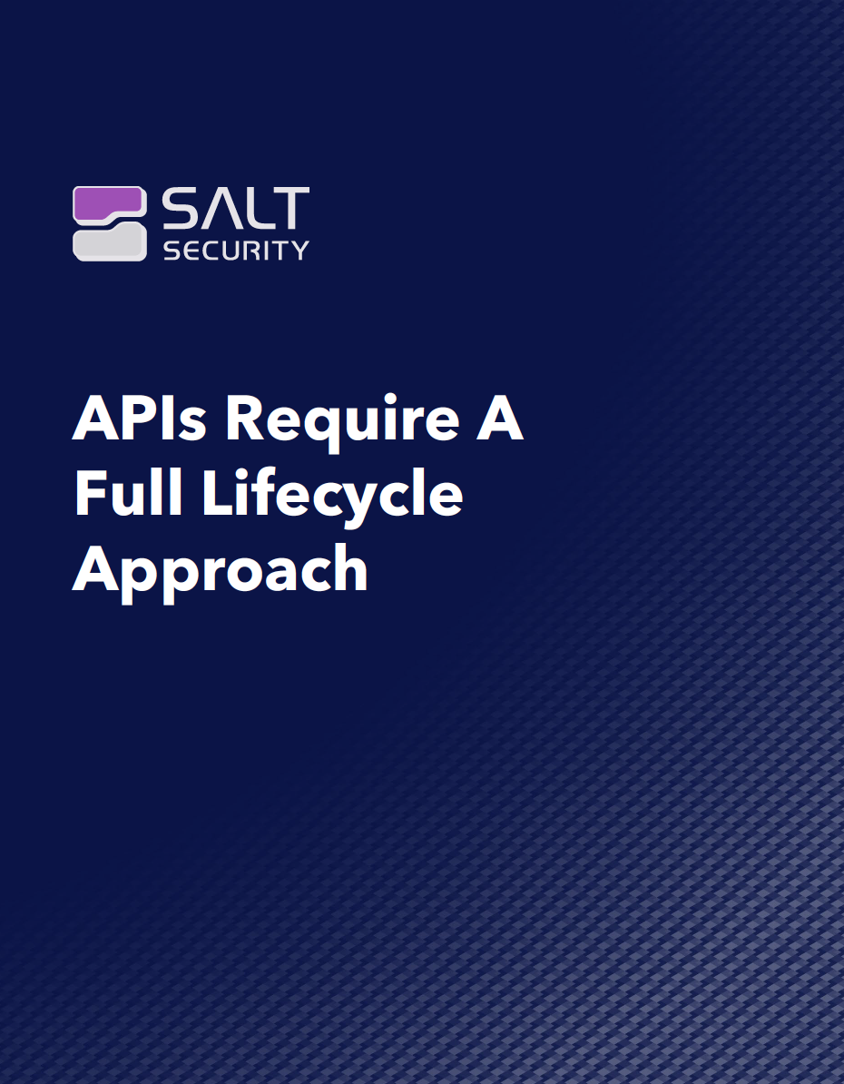 APIs Require a Full Lifecycle Approach