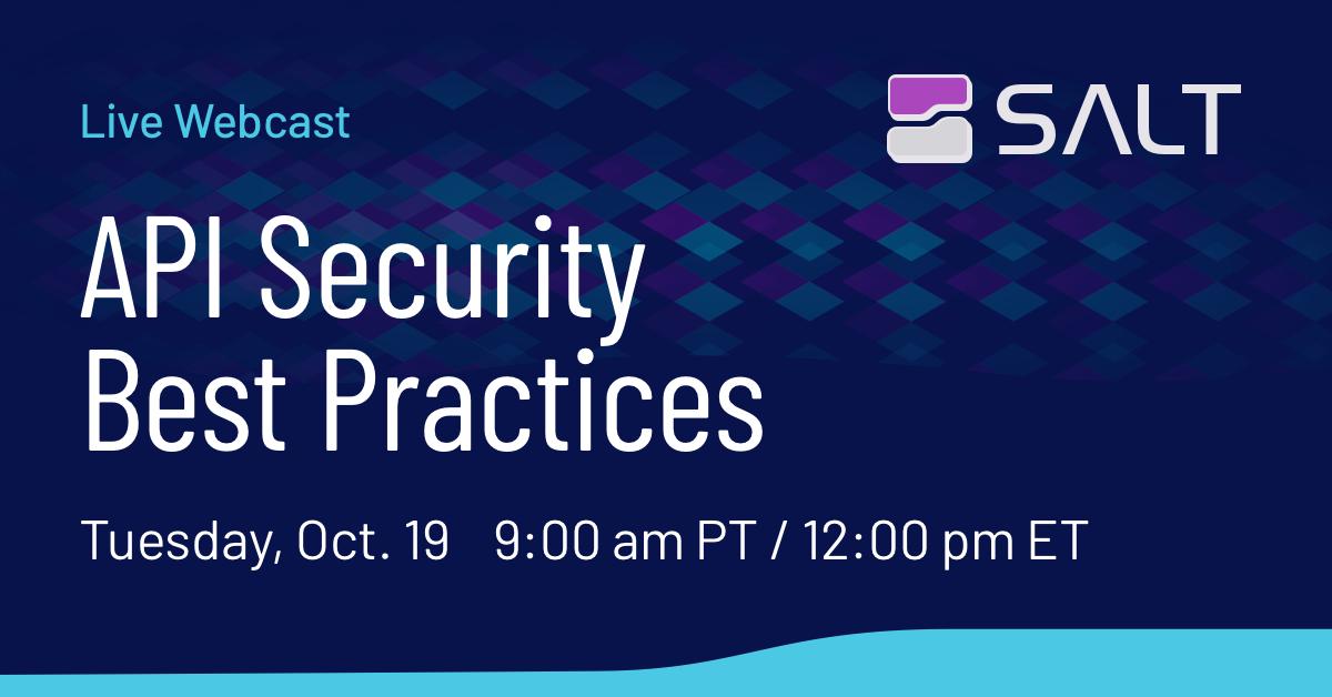 API Security Best Practices Webcast