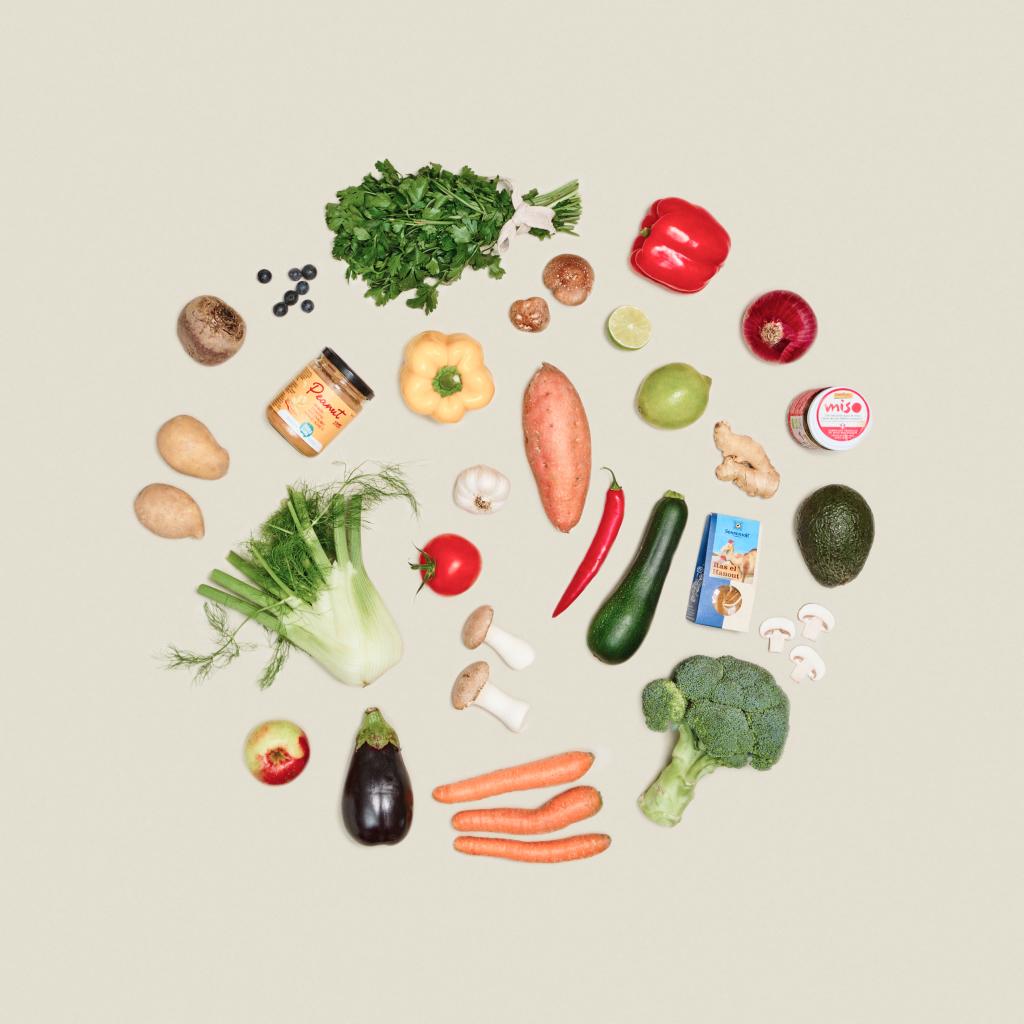 100% Bio-Lebensmittel & optional Premium Fleisch/Fisch