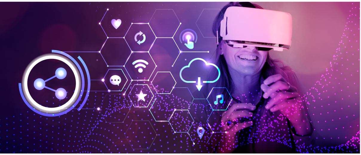 A person using a VR headset