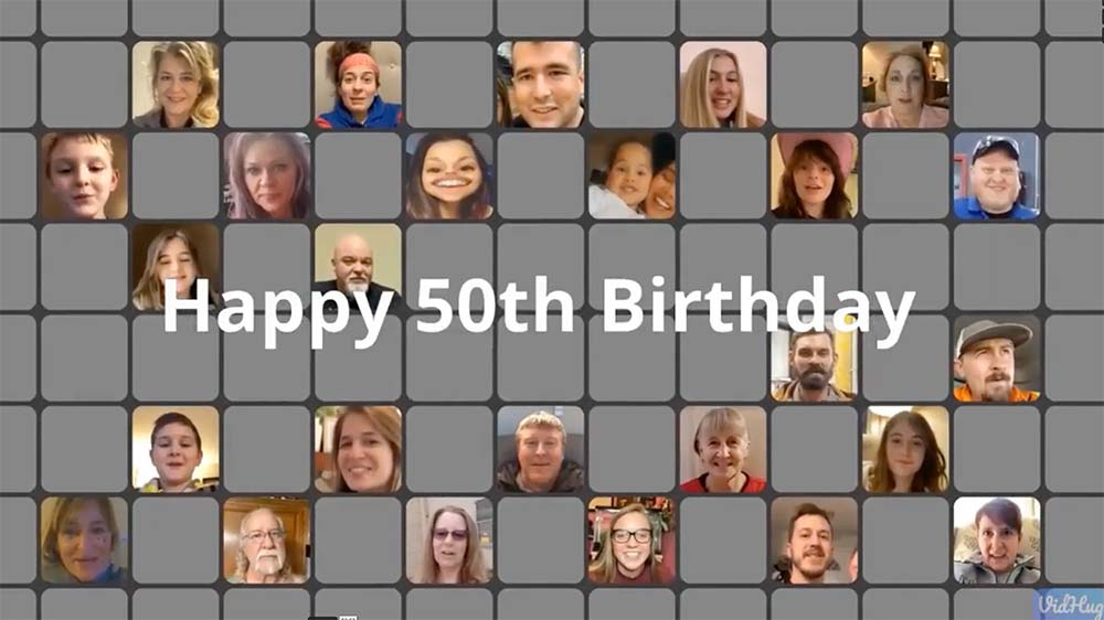 Vince's 50th birthday video screenshot