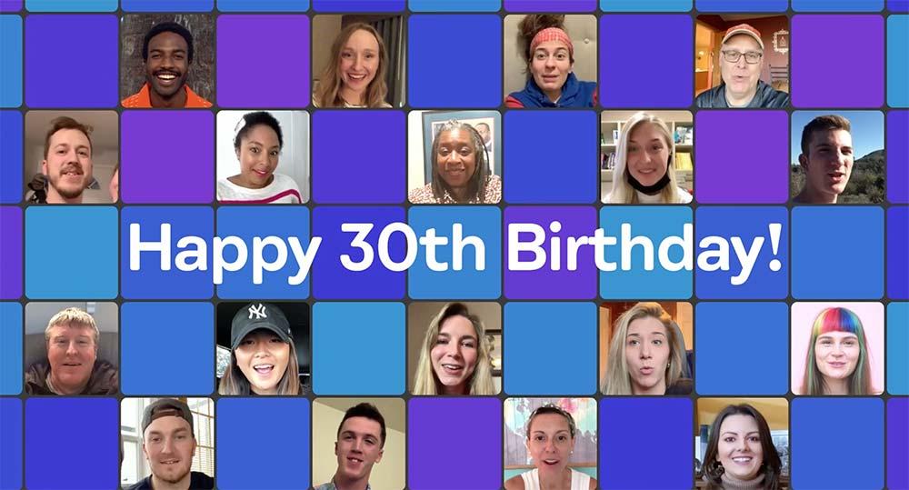 Long distance birthday video screenshot