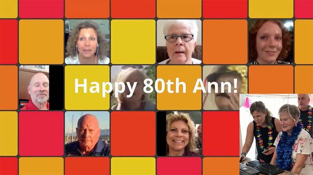 Ann's 80th Birthday video screenshot