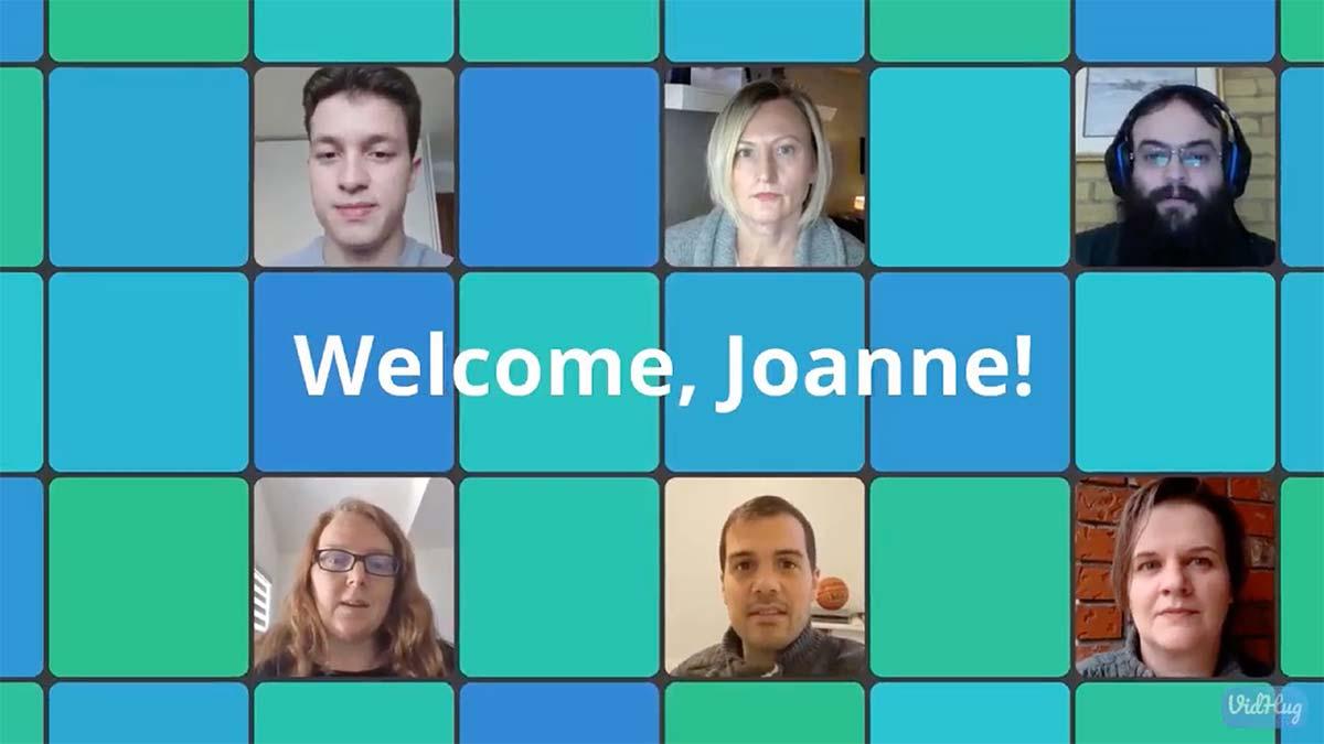 Screenshot of Welcoming New Employee VidHug video