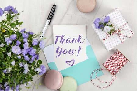 Cookie thank you note