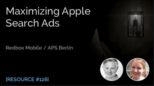 Maximizing Apple Search Ads