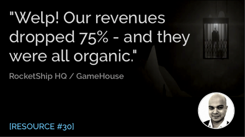 Welp! Our Revenues Dropped 75% - and They Were All Organic