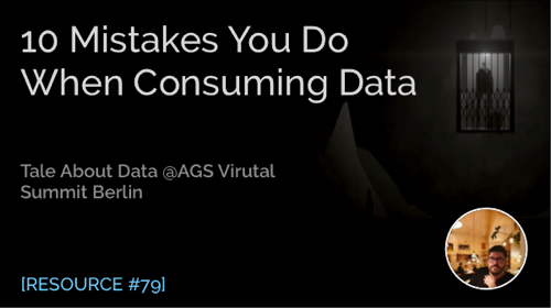 10 Mistakes You Do When Consuming Data
