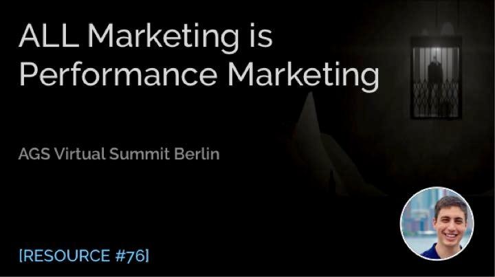 All Marketing Is Performance Marketing