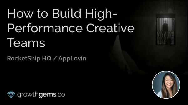 How to Build High-performance Creative Teams