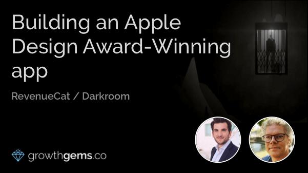 Building an Apple Design Award-Winning app