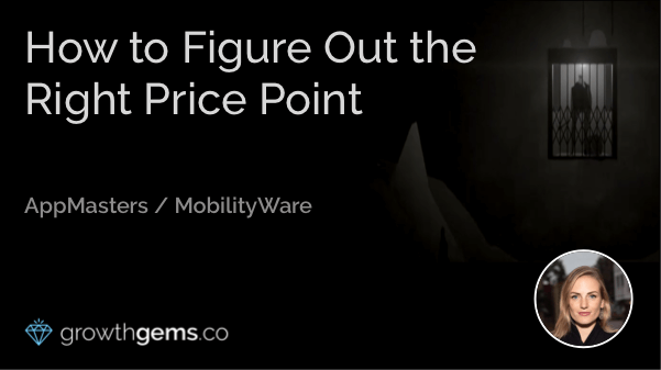 How to Figure Out the Right Price Point