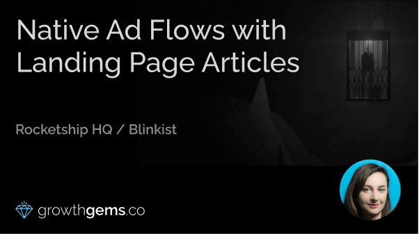Native Ad Flows with Landing Page Articles