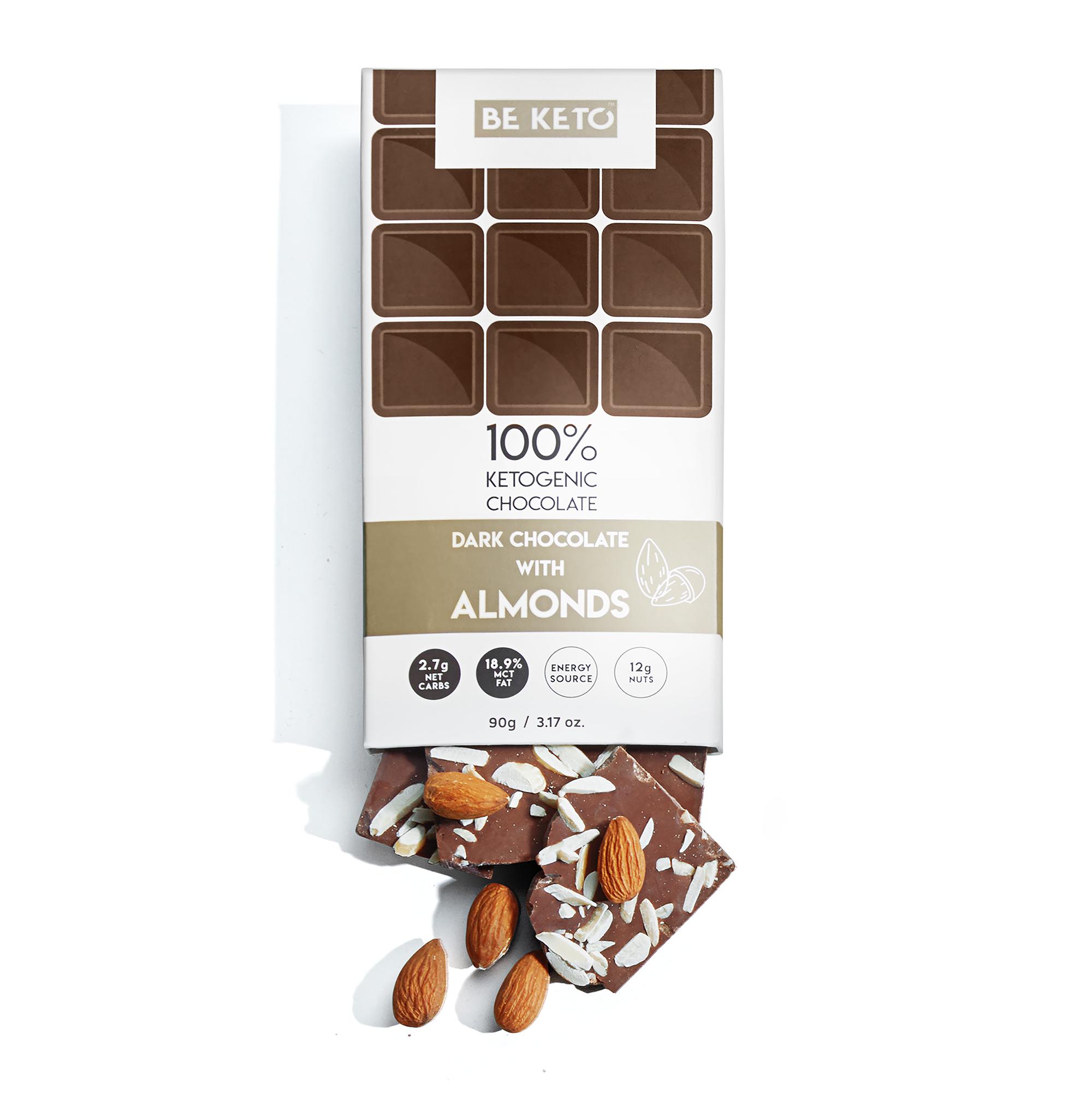 Keto Chocolate + MCT Oil - Almonds