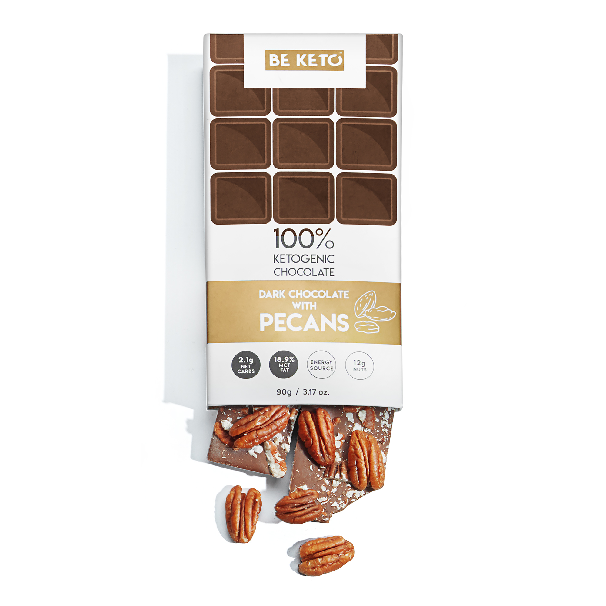 Keto Chocolate + MCT Oil - Pecans