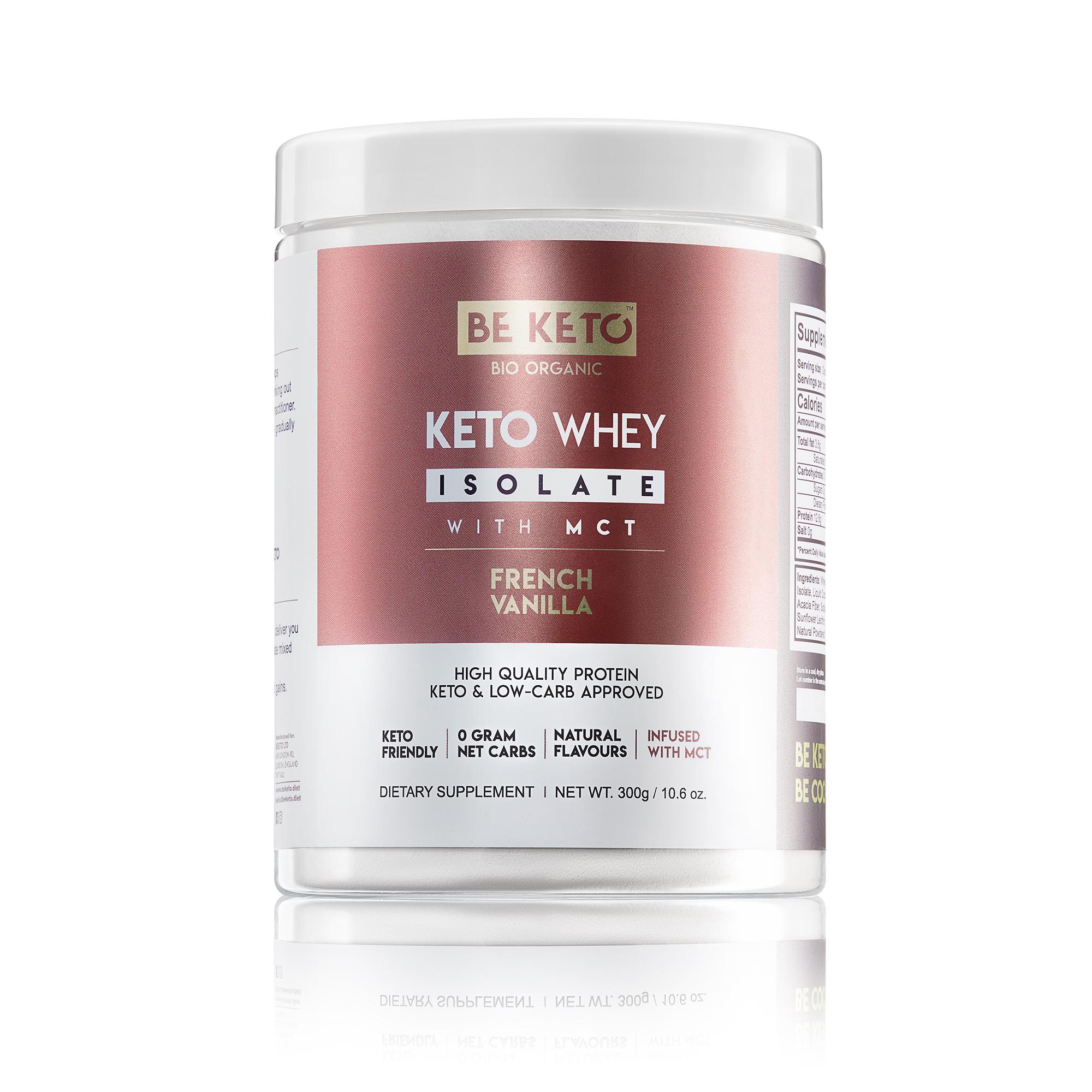 Keto Whey isolate + MCT - French Vanilla 300G