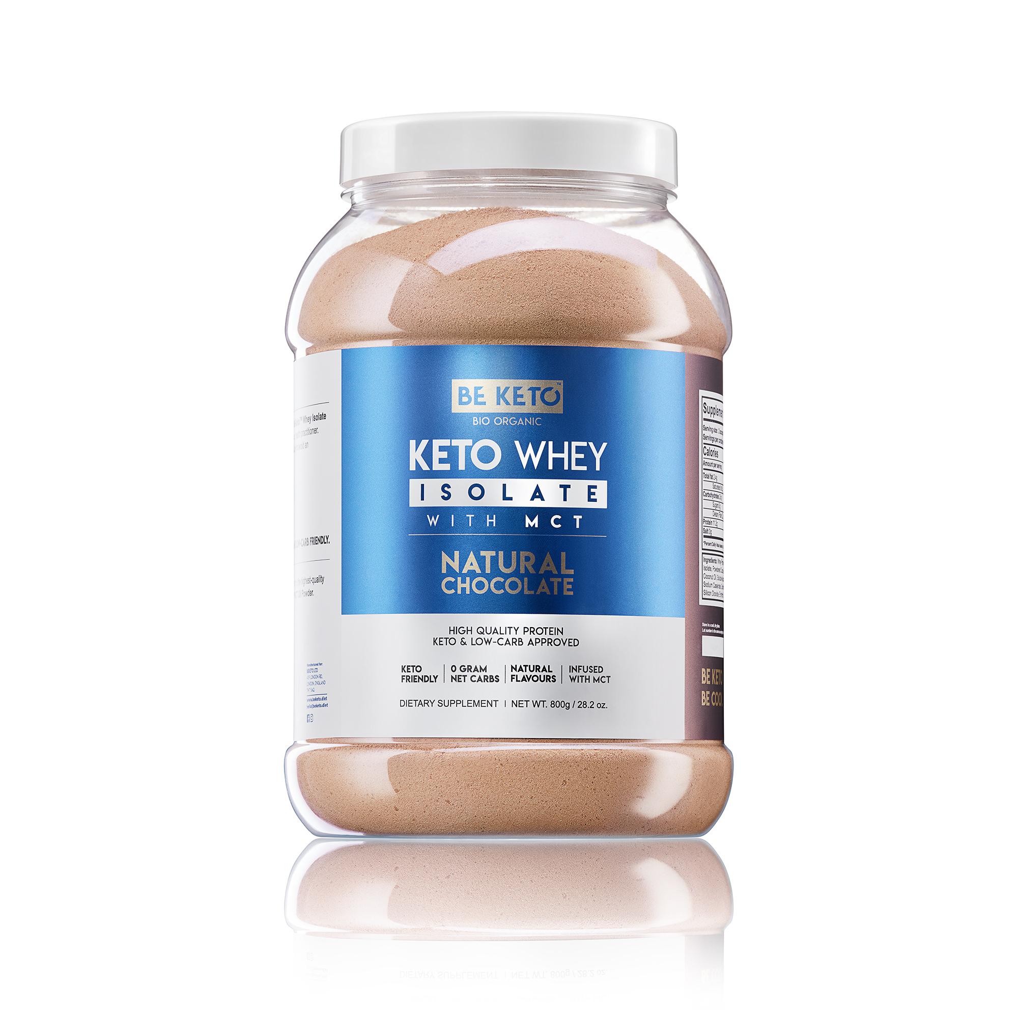 Keto Whey isolate + MCT - Natural Chocolate 800G