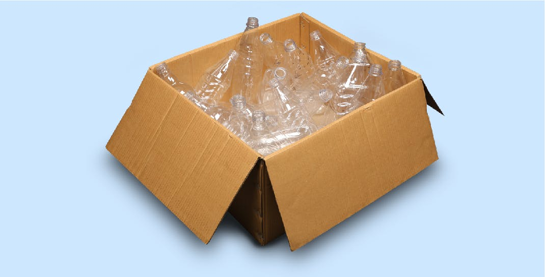 Packaging Development Solution - Before   Cluttered Corrugated Box