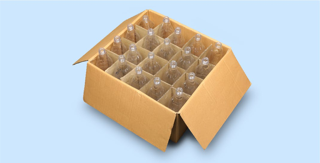 Packaging Development Solution - After   Sectioned Corrugated Box