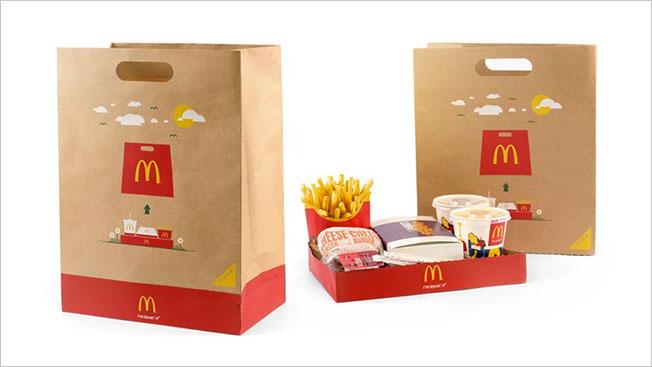 Paper Packaging  - Mcdonalds bag tray