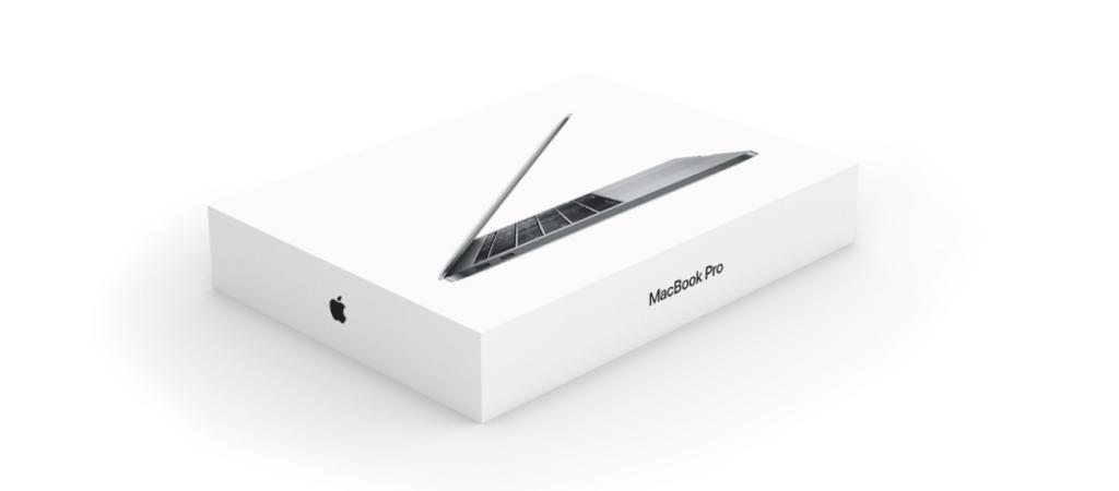 Paper Packaging  - Apple Macbook minimalist packaging