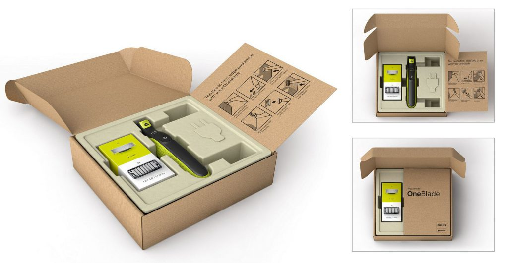 Philips oneblade - sustainable packaging