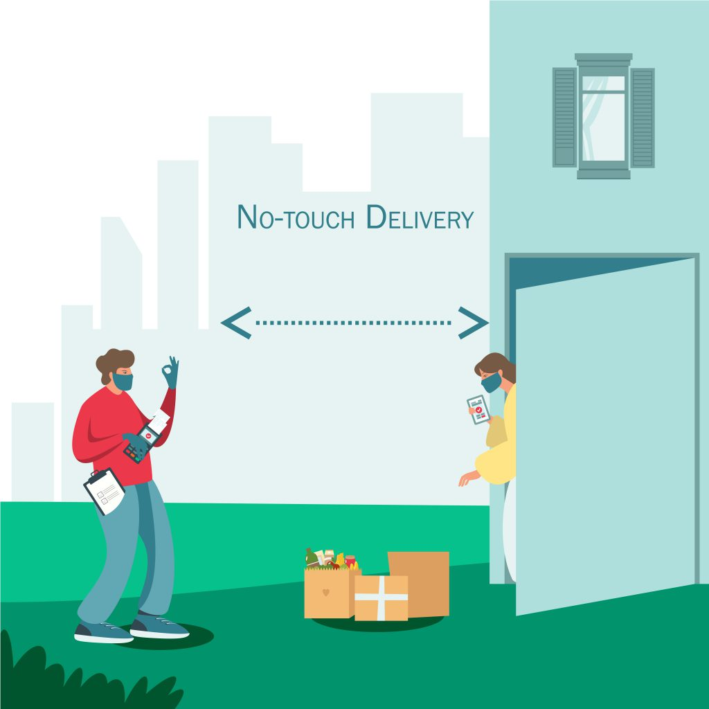 Packaging for contact-free deliveries- Bizongo Hive