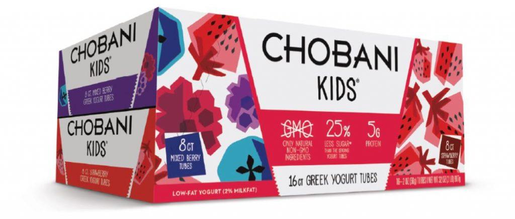 attractive frozen food packaging for Chobani's kids yogurt range