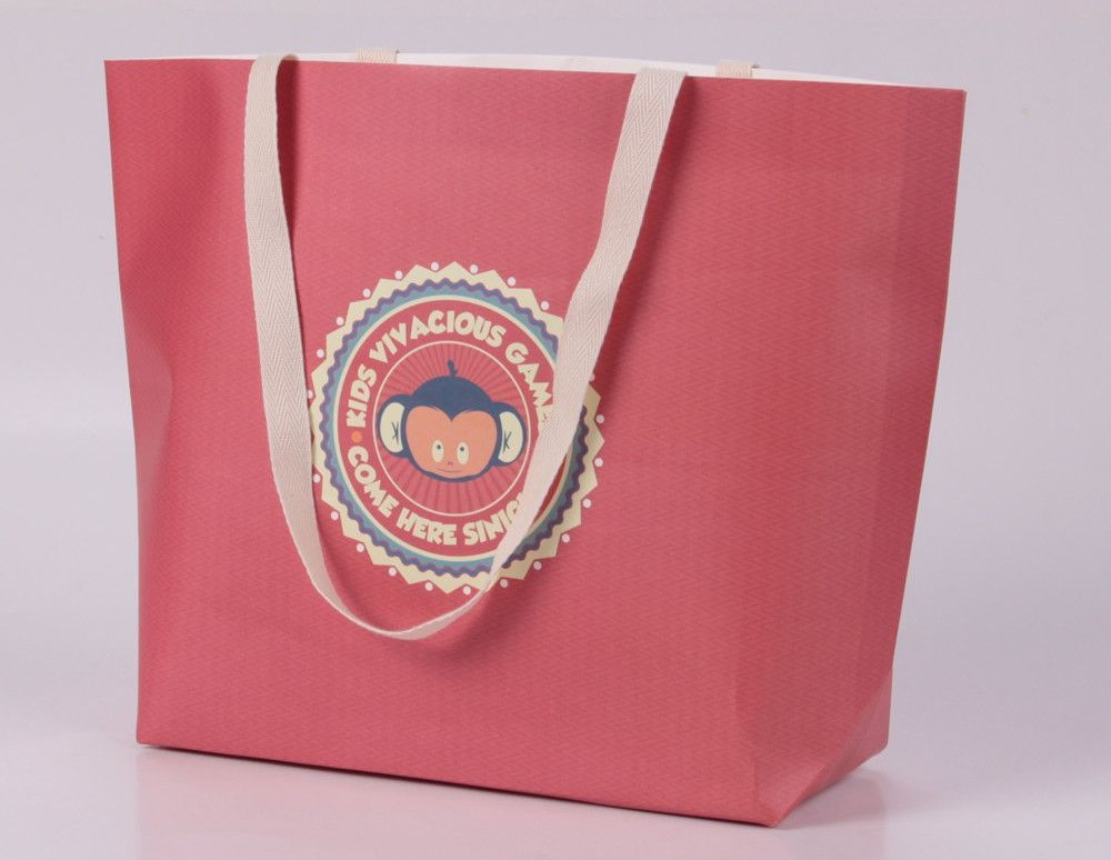 cotton handle paper bag  - Type of paper bag handles