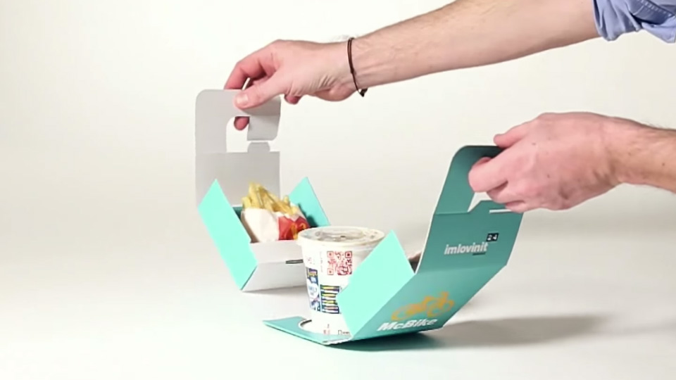 Food Packaging Trend - Portable Packaging McBike