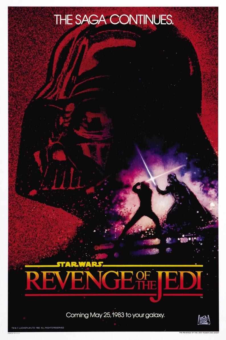 Revenge of the Jedi Poster -Star Wars. Published on Bizongo