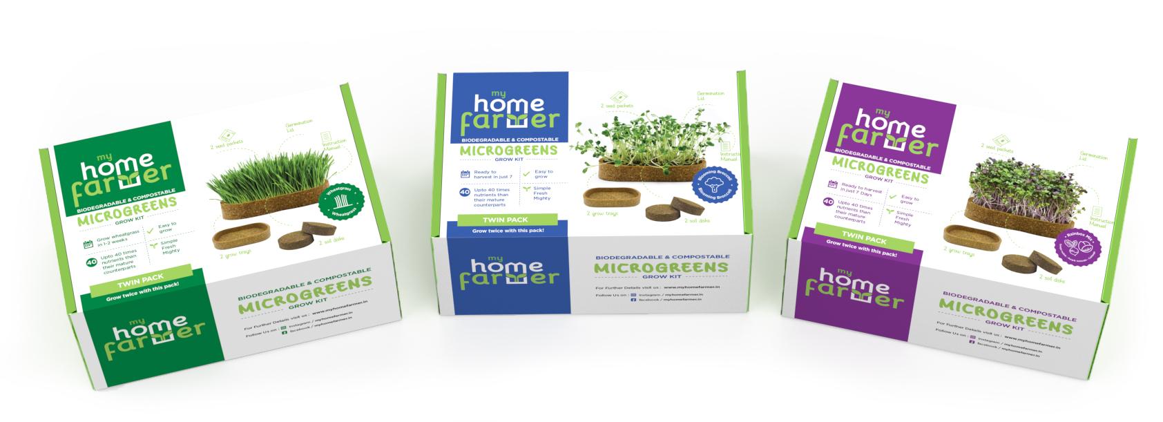 Brand & Packaging Design for Grow Kit - MyHomeFarmer Variants