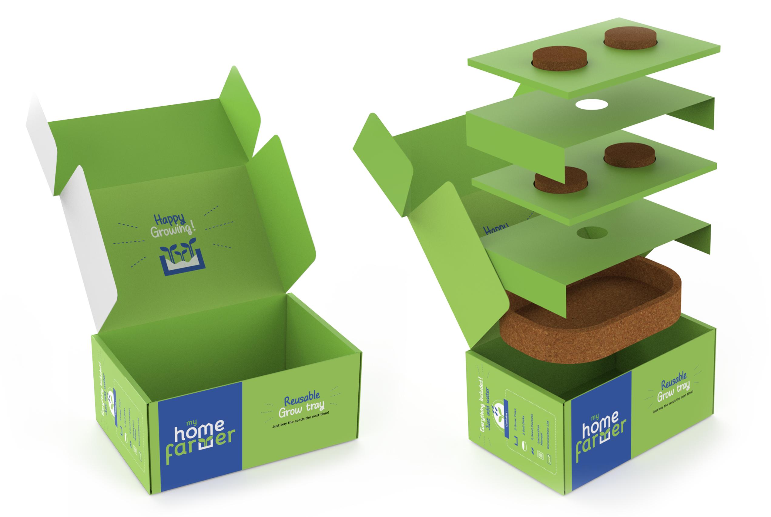 Brand & Packaging Design for Grow Kit - MyHomeFarmer