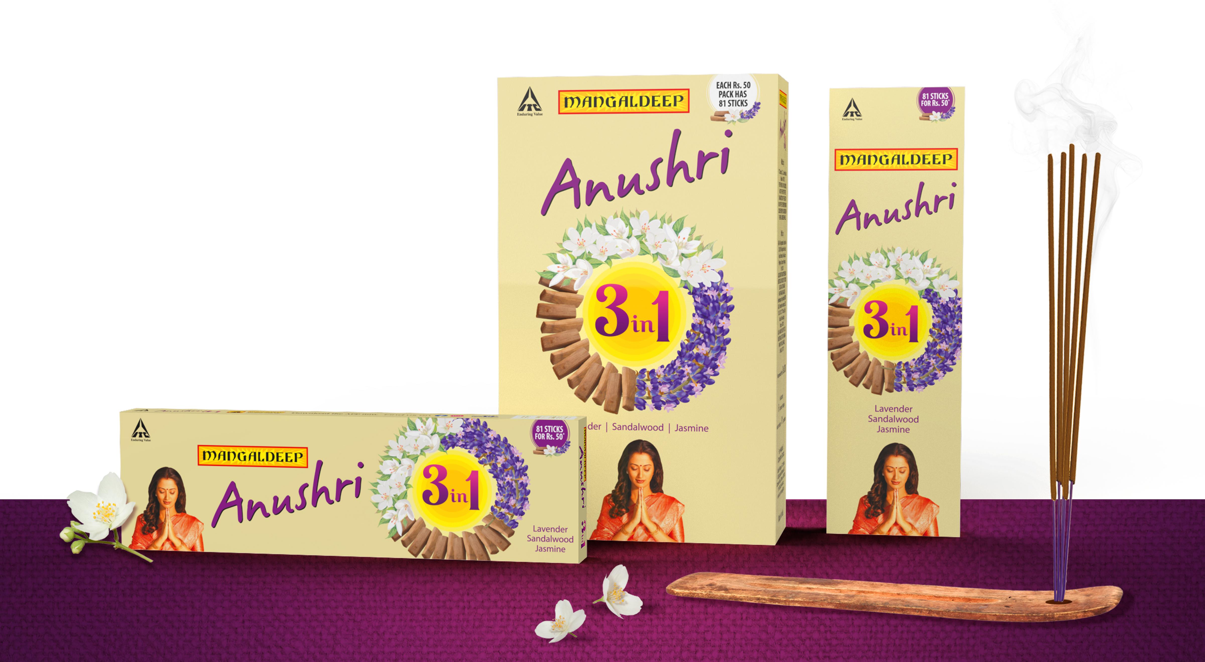 Packaging Design for Incense Sticks - ITC Mangaldeep Anushri